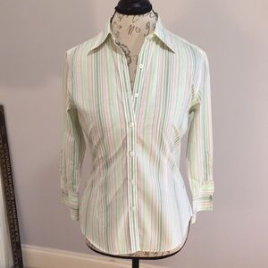 Striped Button Front Shirt Brooks Brothers 346
